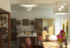 Küche mit LED Beleuchtung