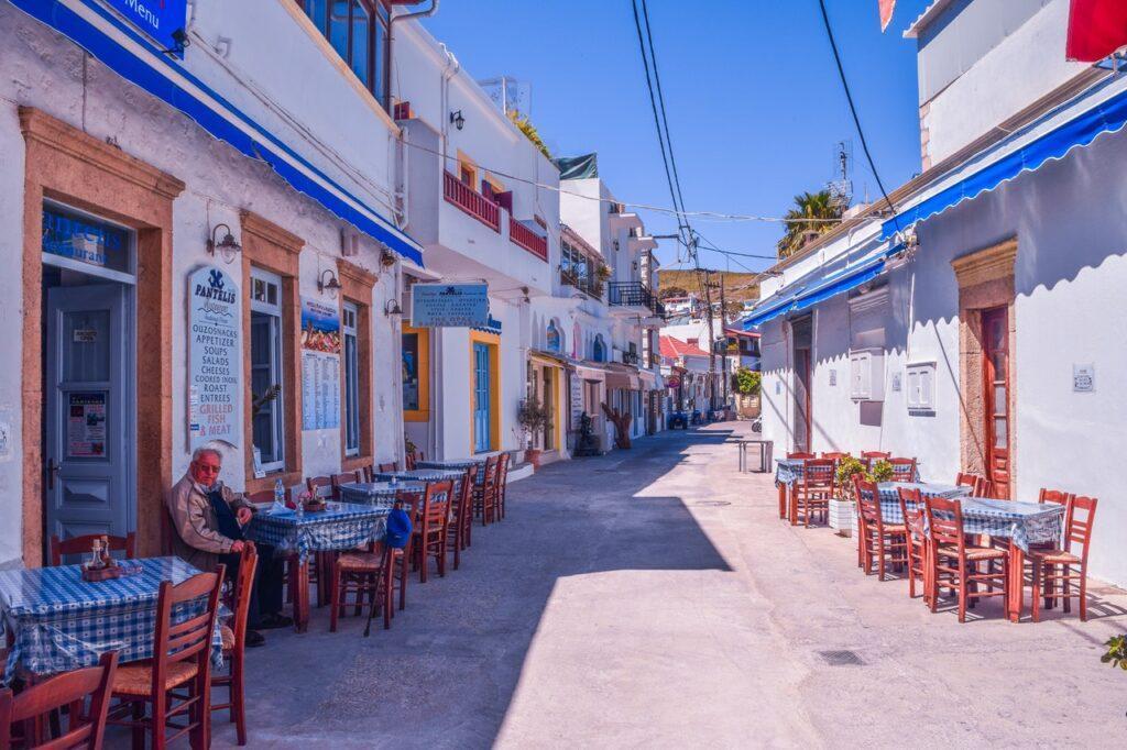 Restaurant in einer kleinen Nebenstraße