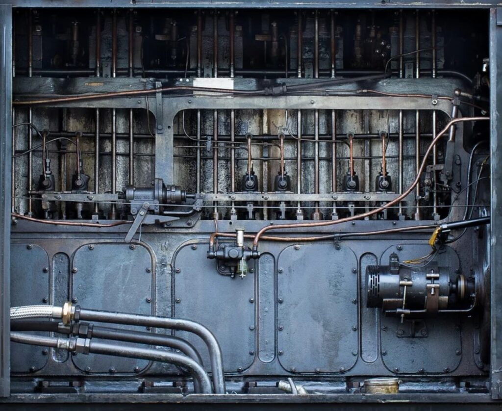 Historische Ölpumpe